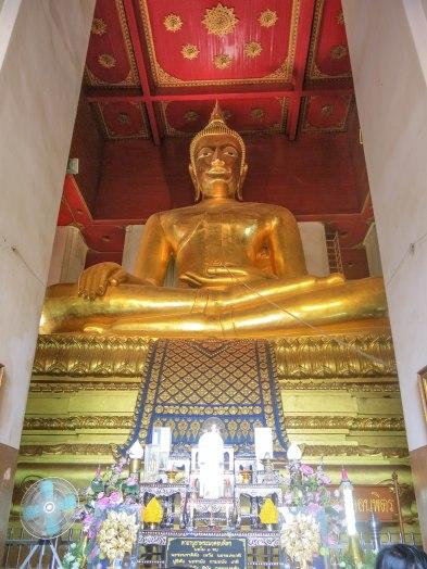 Big Buddha Statue inside Wat Mongkhon Bophit