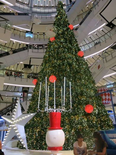 Decoration for upcoming Christmas inside Central World