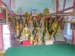 Buddha images inside the pagoda