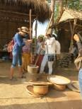 Khmer traditional rice husking (rice mortar) - ត្បាល់បុកស្រូវ