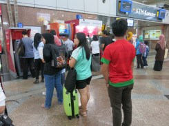 Our lucky ATM machine (lol) - KL Sentral