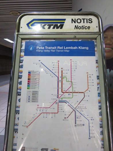 Rail map, taking Line 2 (Port Klang Line) straight to Batu Caves station