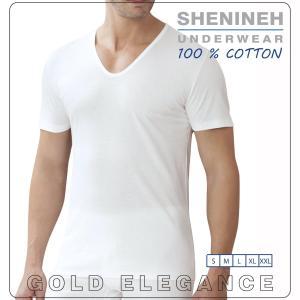 T-shirt, V- haal hemd met korte mouwen, 100% Katoen