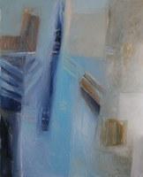 Hadi Toron. Rue à Damas. 2008. 30x24 inches. Acrylic on canvas
