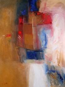 Hadi Toron. So Long My Village. 2008. 48x36 inches. Acrylic on canvas
