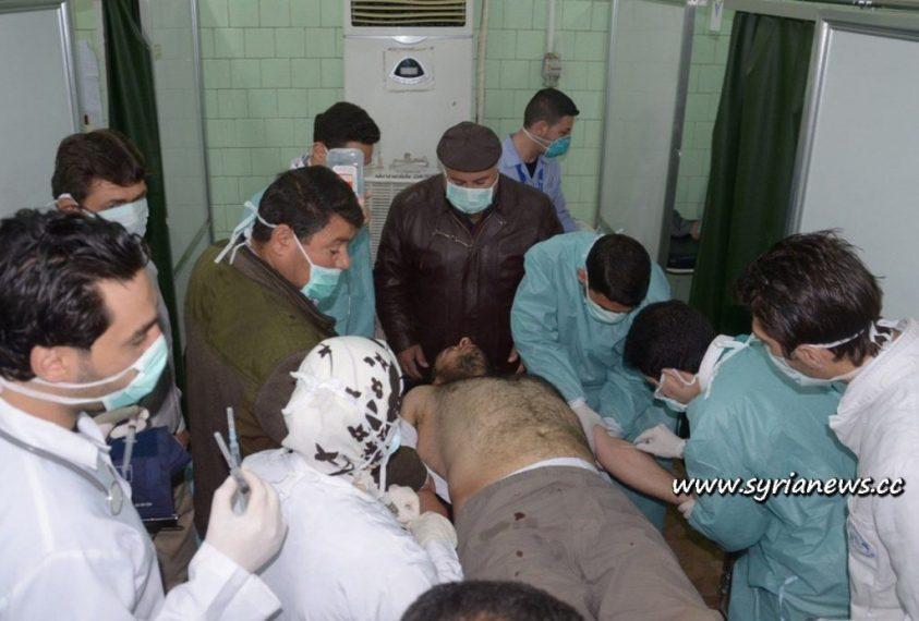 Victim of chemical attack by Al-Qaeda FSA in Khan Asal, Aleppo