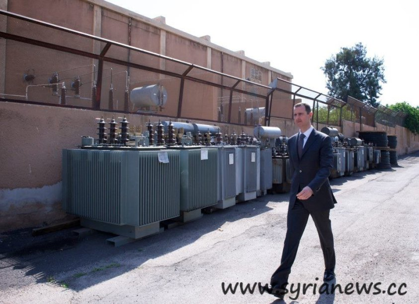 Assad visit to Omayyad Electricity