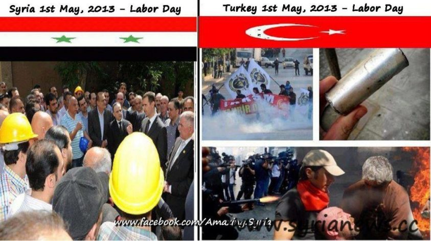 Turkish Prime Minister unleash his thugs against workers on May Day