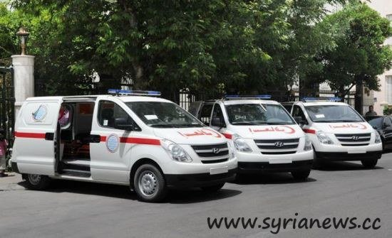Syria receives 15 ambulances gift from Iran