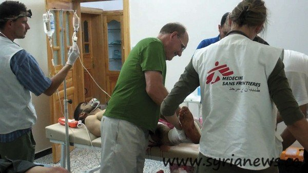 "MSF treats ""patients"" in the battle area in Syria"