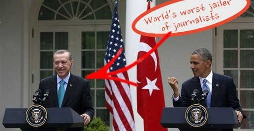 Erdogan jailer of journalists