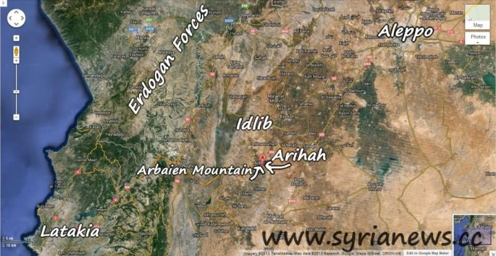 Idlib Countryside Map
