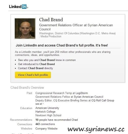 Chad Brand, U.S. Government Relations Officer at Syrian American Council