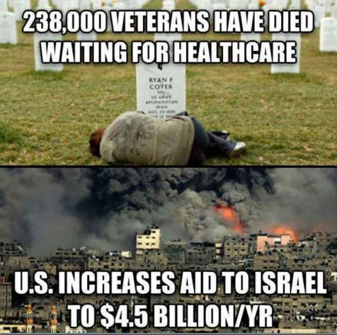 US Aid to Israel vs US Veterans