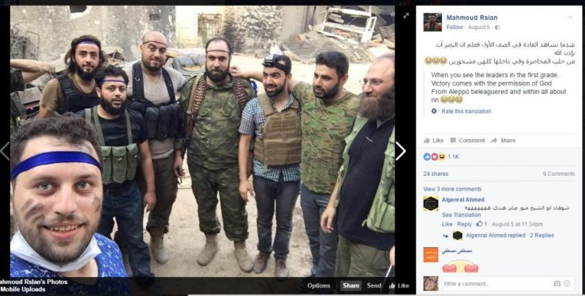 Rslan posted this selfie with child beheaders, 5 August