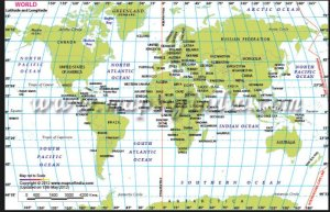 north atlantic latitude longitude map
