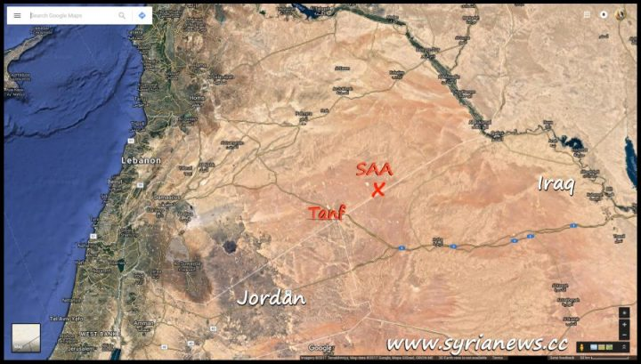 Syrian Arab Army SAA Arrives at Iraqi Borders Northeast of Tanf