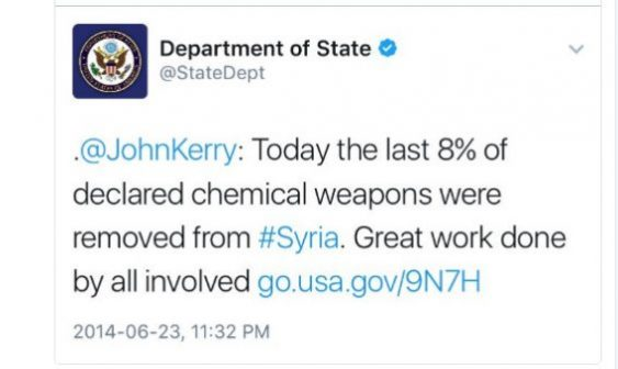 OPCW fast collection of Syria's chemical weapons.