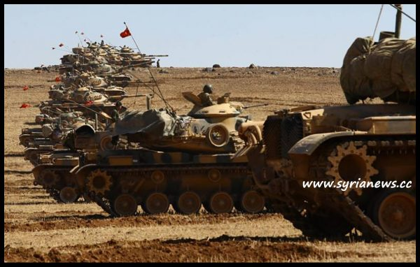 image-A group of tanks from Turkish Erdogan Forces