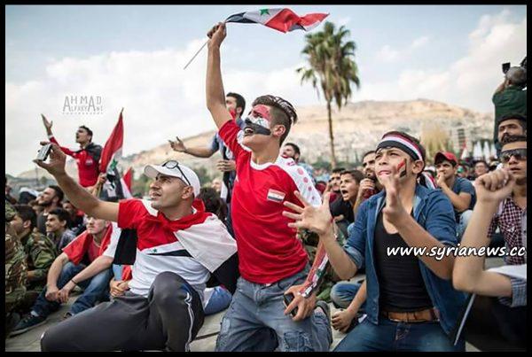 image-Spectators watching Syria play Australia at Omayyad Square - Qasioun Eagles