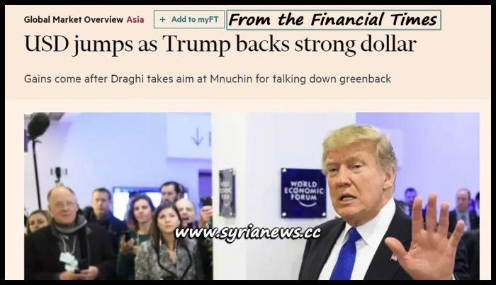 image-Trump Backs Strong Dollar