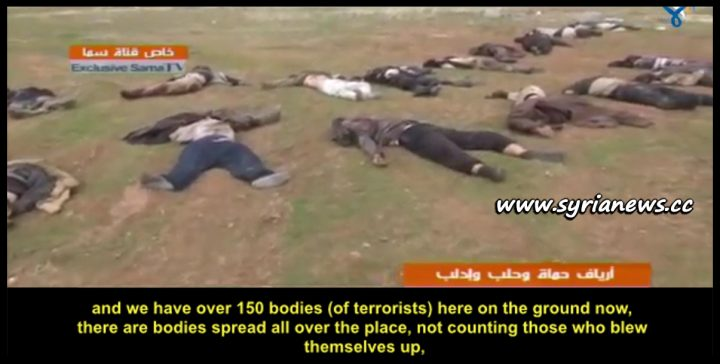 image-SAA Eliminates 150 ISIS Terrorists in Idlib Countryside heading to assist Nusra Front terrorists fighting under the Turkish army command