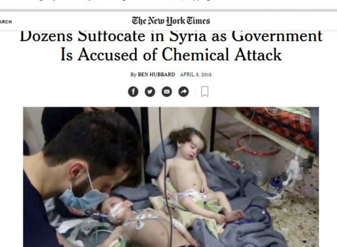 Murdered babies used for chemical weapons lies.