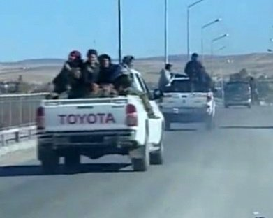1 ziokurds leave to qara qozag in at least one toyota truck