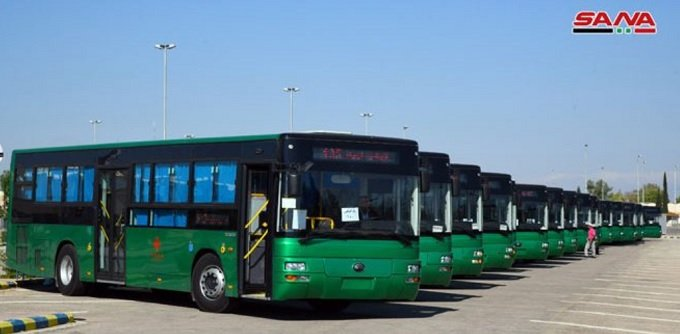 China sent one hundred mass transit buses to Syria.