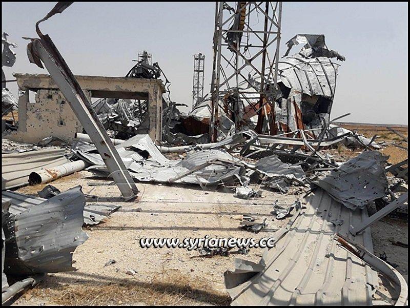 Nusra Front terrorists blow up grain silos in Tal Al-Sakhr Idlib Countryside - SANA
