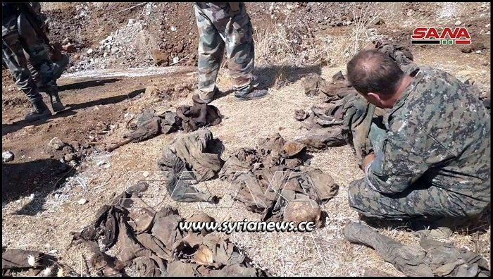 Mass graveyard discovered in Llatamneh Hama countryside