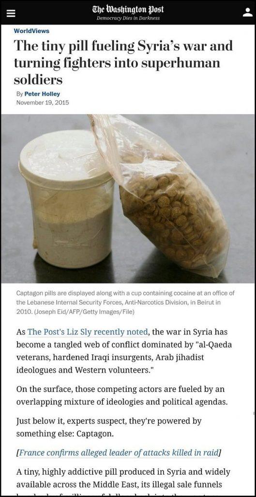 Washington Post WaPo Propaganda Report about Captagon Pills in Syria