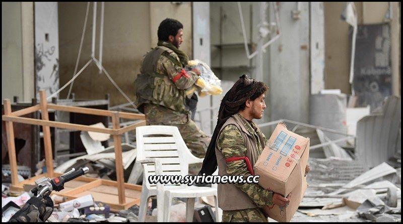 Erdogan forces looting people's belongings in Afrin, Aleppo countryside - Archive
