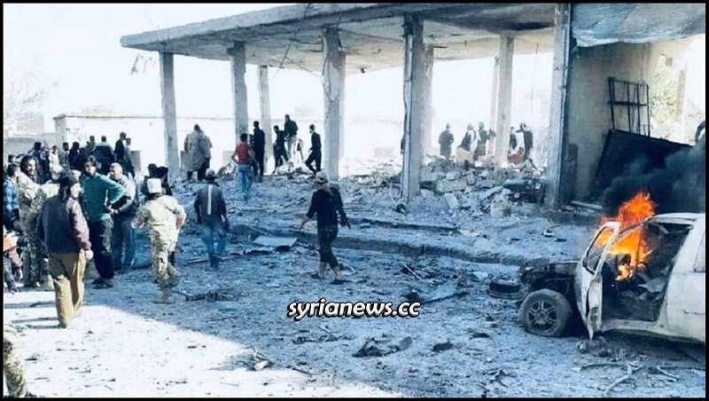 Tal Abiad car explosion kill 10 northern Raqqa countryside Syria - Turkish borders