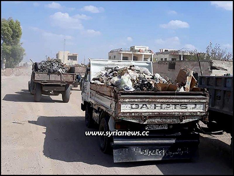 Cleaning Darayya in Damascus countryside