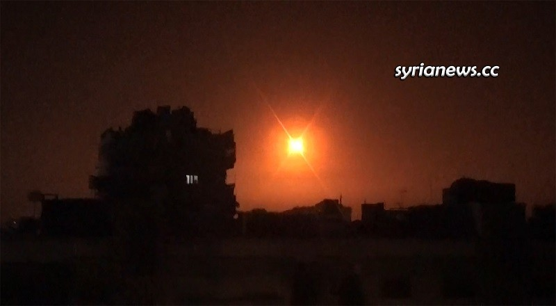 SAA Air defense shoot down a number of incoming Israeli missiles