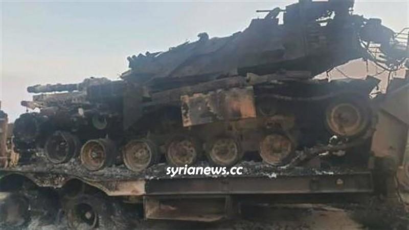 SAA Syrian Arab Army destroys Turkish Erdogan tanks in Idlib
