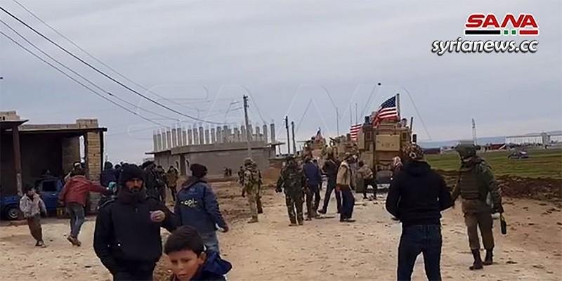 Khirbet Ammo locals stone Trump US forces