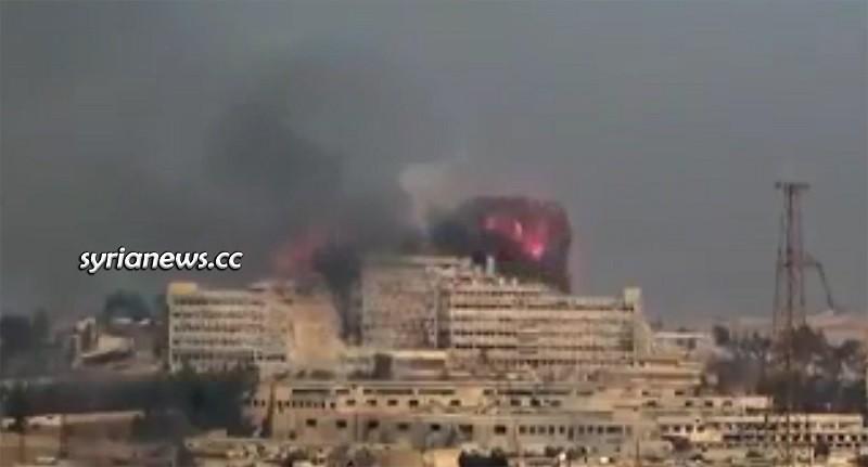 US-sponsored terrorists bombed al-Kindi Hospital in Aleppo December 2013