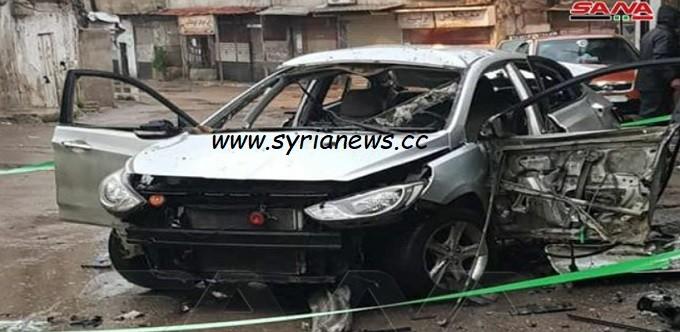terrorists panic campaign in Damascus suburb detonate a civilian car