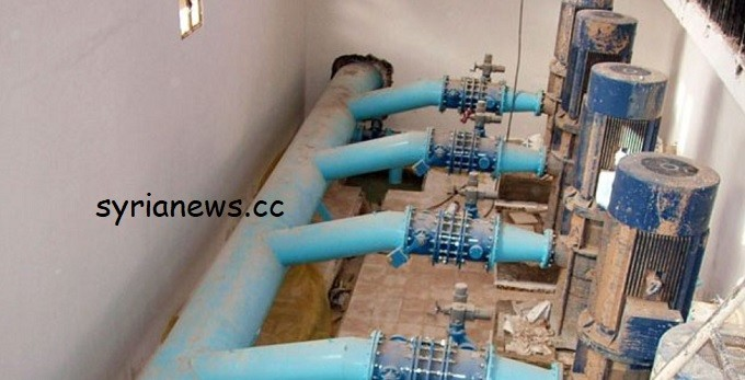Erdogan terrorists cut off the drinking water at Allouk water pump in Hassakeh