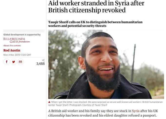 British Tauqir Sharif al Qaeda terrorist in Syria