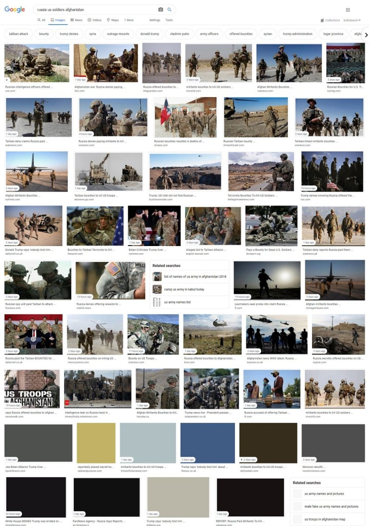 Mainstream Media Hype on New York Times Russia bounty to Afghan fighters to kill US soldiers