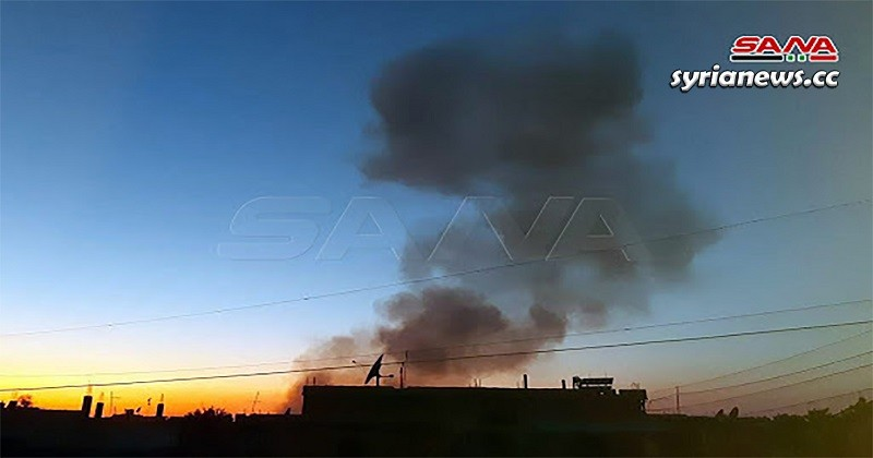 Explosion in Kurdish SDF weapons depot in Hasakah northeast Syria