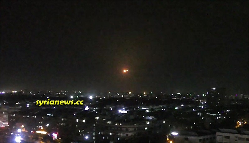 Syrian Army air defense shoots down incoming Israel missiles south of Damascus