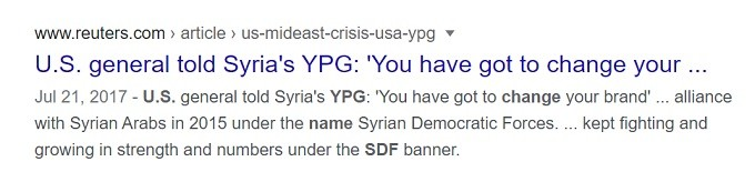 Biden regime continues to run the NATO wetworkers SDF gang.