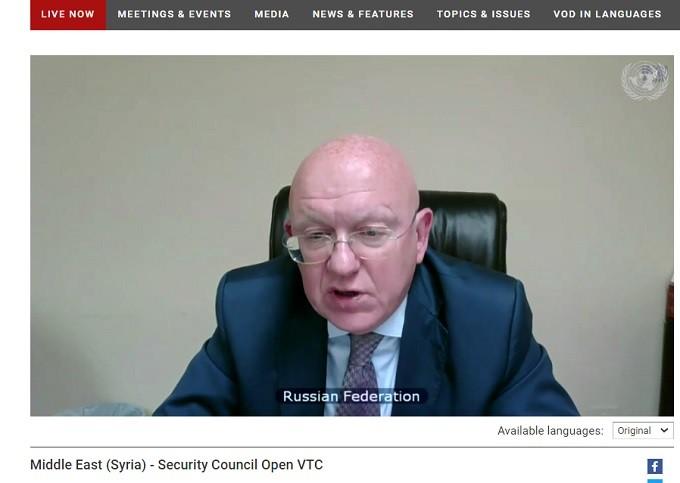 H.E. Vassily Nebenzia, Russia's Permanent Representative to the UNSC