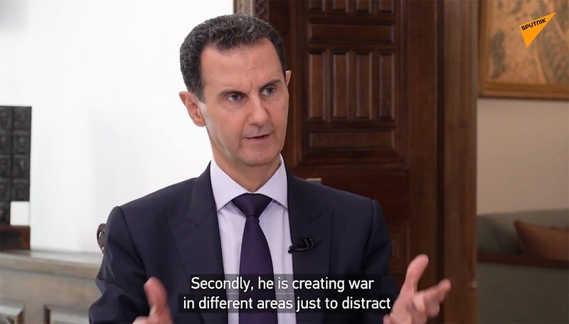 Syrian President Bashar Assad interview with Sputnik