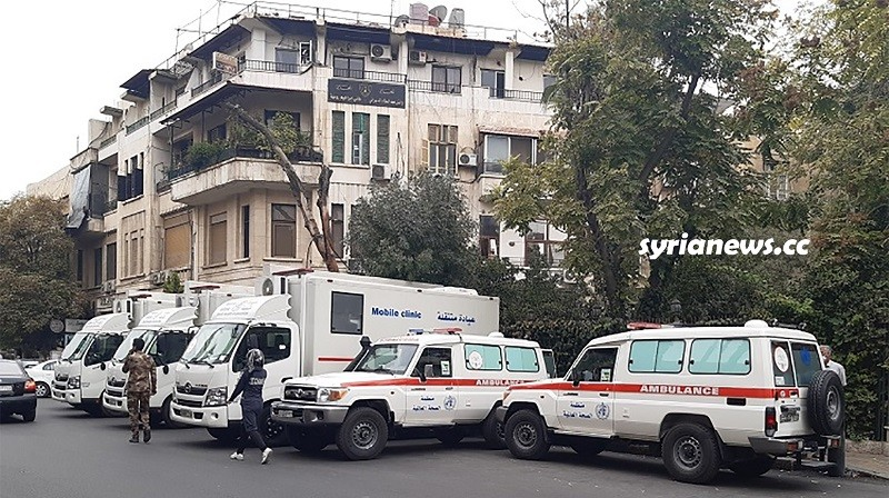 World Health Org delivers ambulances and mobile clinics to Syria