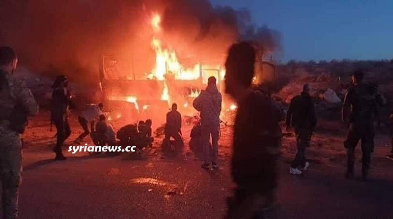 ISIS terrorist attack on the bus in Deir Ezzor